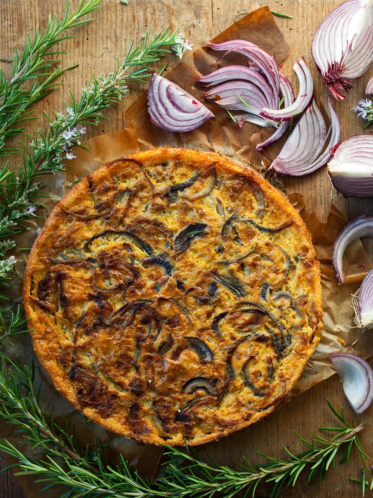 Ricetta Farinata Viva La Focaccia.Farinata Di Ceci Con Cipolle E Rosmarino Radici Il Blog Di Cucina Di Chiara Canzian