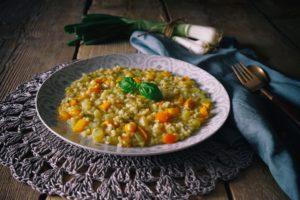 riso vialone nano peperoni patata cipollotto scalogno basilico primavera risotto