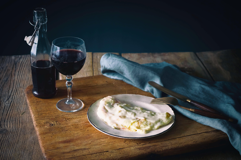 crespelle valdostana vino rosso besciamella fontina formaggio vegetariano food cibo
