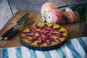Crostata di fragole e crema cotta - Radici blog Chiara Canzian
