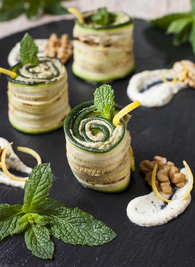 involtini zucchina hummus cannellini avocado chiara canzian radici blog