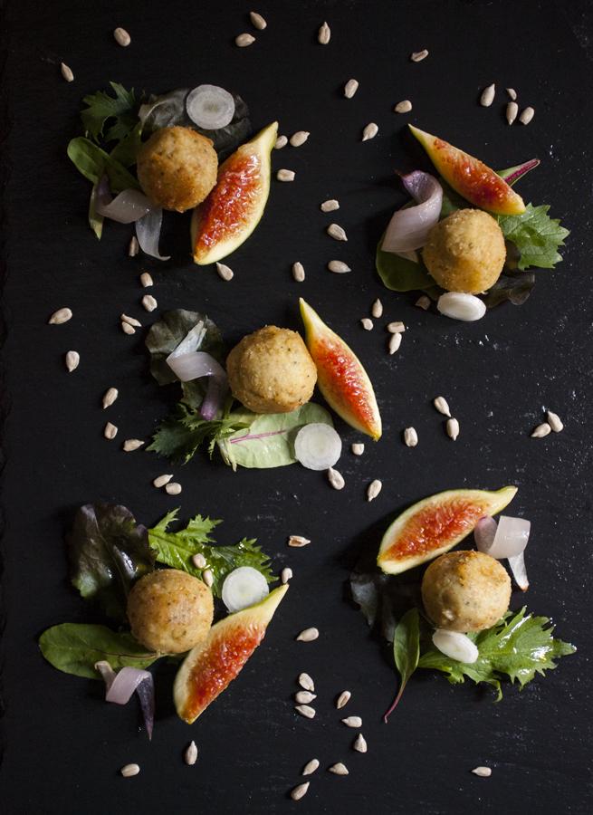 Polpette di Cannellini e insalata Agrodolce