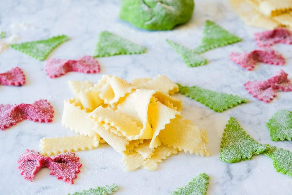 pasta fresca colorata senza uova