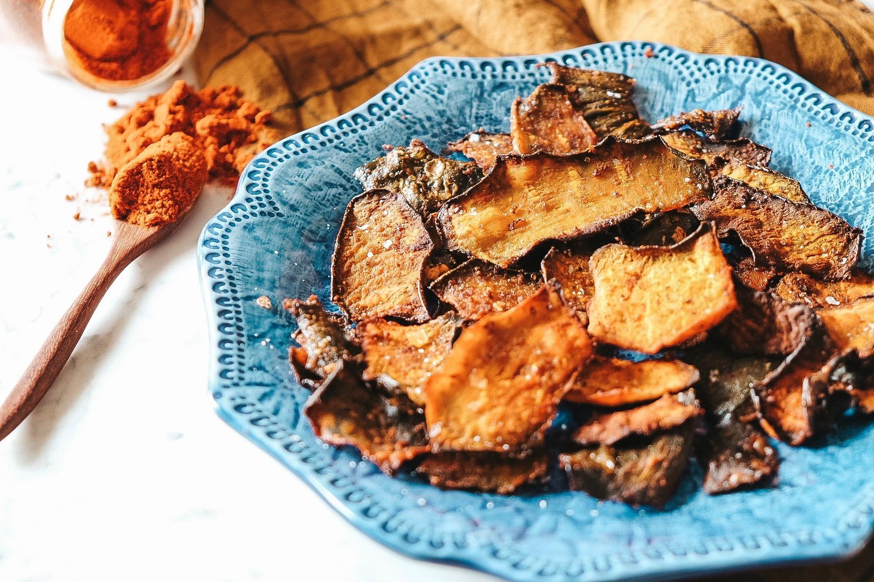chips di cuccia di zucca